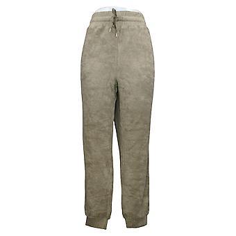 Alle kvinder's bukser store baby Terry Jogger m / Lommer Olive A310045