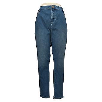 Belle by Kim Gravel Women's Jeans Flexibelle 5-Pocket Skinny Blue A367285