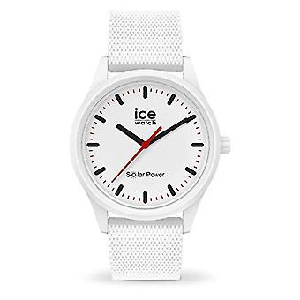 Ice-Watch - ICE aurinkovoima Polar Mesh - Unisex valkoinen kello silikonihihnalla - 018390 (Normaali)