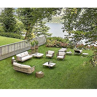 Havemøbler Vævet Reb Træ Big Sofa Sæt