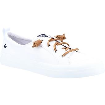 Sperry Crest Vibe Ladies Canvas Casual Trainers White