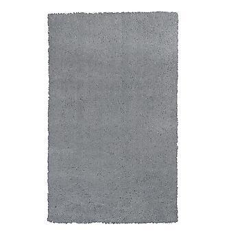 2' x 4' Polyester Grey Area Rug