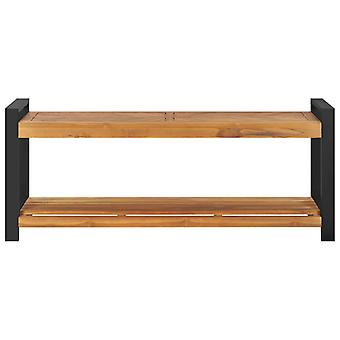 vidaXL Sitzbank 120 cm Massivholz Teak