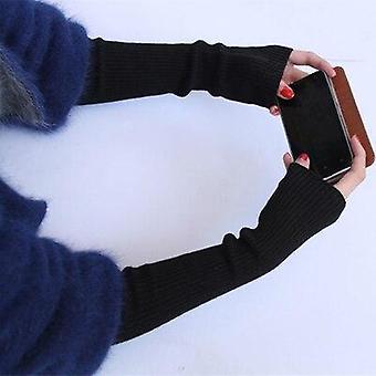 المرأة ذراع مدفأة، الكشمير قفازات طويلة بلا أصابع