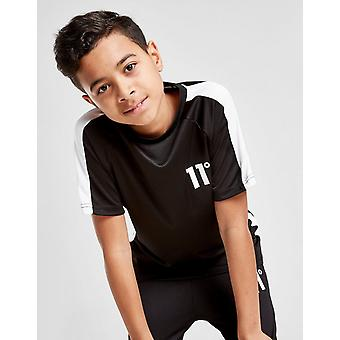 New 11 Degrees Cut & Sew Poly Panel T-Shirt Junior from JD Outlet Black