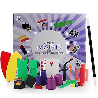 パープルマジック小道具セットギフトボックスクローズアップステージ子供の魔法のおもちゃ新しい奇妙なインタラクティブなパフォーマンス小道具az9447