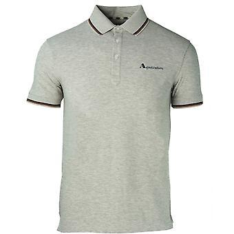 Aquascutum Brand Logo Grey Polo Shirt