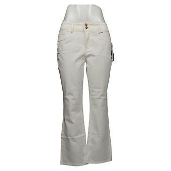 Global Chic By Iman Women's Luxury Slim Bootcut Jean White 685831UCU