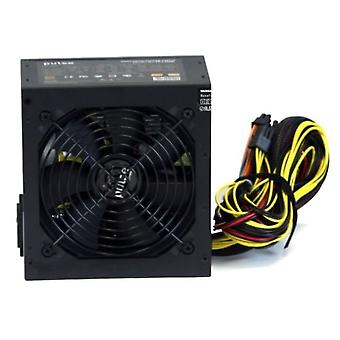 Pulse Power Plus 500W PSU, ATX 12V, Active PFC, 4 x SATA, PCIe, 120mm Silent Fan, Black Casing