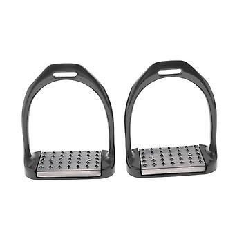 1 par rostfritt stål ridning Stirrups Säkerhet Slitbana Halkskydd Utrustning