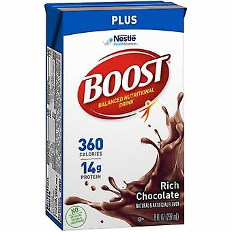 Nestle Healthcare Nutrition Oral Supplement Boost Plus Rich Chocolate Flavor 8 oz. Container Carton Ready to Use, 1 Each
