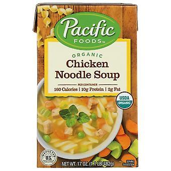 Pacific Foods Soup Chkn Noodle Org, tilfælde af 12 X 17 Oz