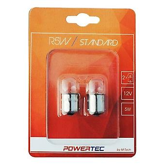 Fordonslampa MTECPTZ30-02B M-Tech R5W 5W 12V (2 stycken)
