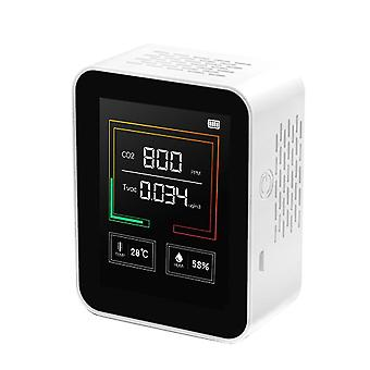 Intelligentes Big Screen Co2 Tvoc Temperatur Feuchtigkeit Mehrzweck-Erkennungswerkzeug (Weiß)