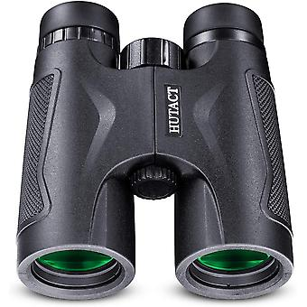 HUTACT Compact, Powerful 10x42 Binoculars, The Complete FMC Multilayer Lenses, Perfect For Outdoor Travel, Animal Watching and Best Choice For Concert Watching,(black)