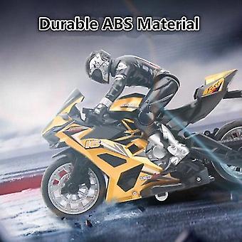 Afstandsbediening Stunt Motor 360 graden Rotatie drift Auto Racing Motorfiets Speelgoed model (Geel)