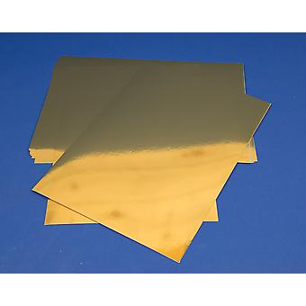 10 Gold A4 Metallic Foil Mirror Boards for Crafts 340 Micron   Coloured Card for Crafts