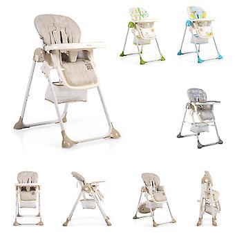 Haut de chaise miel pliable, ceinture de sécurité à 5 points table deux pièces, panier de rangement