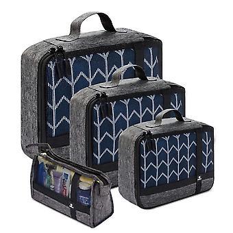 4 Set Packing Cubes Ultralight Travel Luggage Packing Organizer