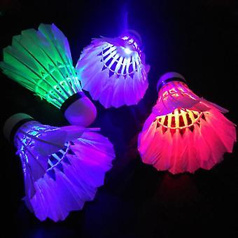 الظلام ليلة ملونة Led الإضاءة الرياضة الريشة, ضوء بقعة المكوك الديك