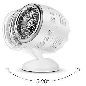 Usb Fan Creative Mini Fan And Double Leaf Fan(Silver And White)