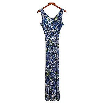 Attitudes by Renee Petite Jumpsuits Sleeveless Jersey Belted Blue A378273