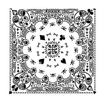 Unisex Hip Hop Skull Paisley Bandana Headband