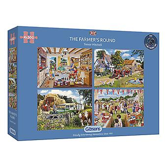 Gibsons Jigsaw Puzzle The Farmer's Round 4 x 500 pieces