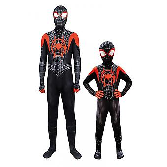 Spiderman Costume Fancy Dress Adult And Kid Halloween Costume Red Black Spandex 3d Cosplay
