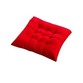 Nelikulmainen tuoli pehmeä istuintyyny kotitoimiston sisätilojen ulkopuutarhaan (punainen)