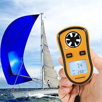 Digital LCD vindhastighedsmåler målermåler Sport Anemometer Ntc termometer