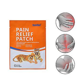 Sumifun 8pcs Pain Relief Patch Soulagement rapide Douleurs &Inflammations Soins de santé Colonne lombaire Plâtre médical
