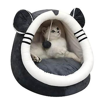 Cat Nest House For Cat, Animal Cave, Anti-slip Animal Heat, Mobile Soft Bed,