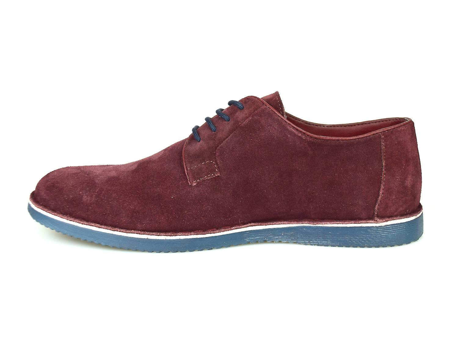 Silver Street London Jackson Mens Oxblood Suede Casual Shoes
