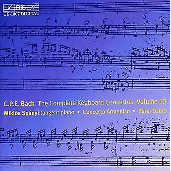 C.P.E. Bach - C.P.E. Bach: El completo teclado conciertos, importación USA Vol. 13 [CD]