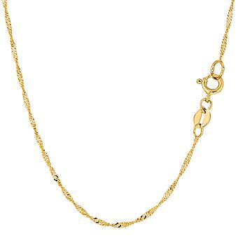 10 k geel gouden Singapore Chain ketting, 1.5mm