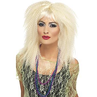 80-luvulla tavaramerkki kihara peruukki blondi nopeus pitkä ja otsatukka