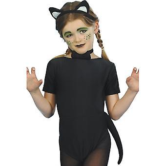 Dzieci strój kota cat kostium dzieci Kitty 3-częściowy zestaw