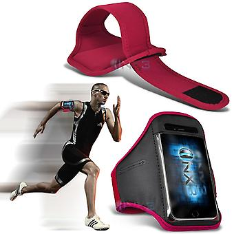 Lenovo A816 Fitness Running Jogging Cycling Gym Armband Holder Case Cover (Pink)