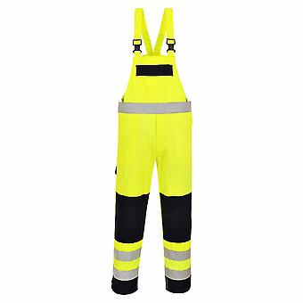 sUw - Hi-Vis Fire Resistant Safety Workear Multi-Norm Bib & Brace Dungarees