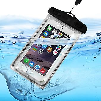 (Black) Waterproof Mobile Phone Bag For Vodafone Smart N9 Lite
