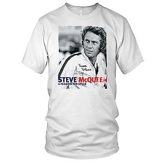 Steve Mcqueen en lidenskap For fart Mens T-skjorte