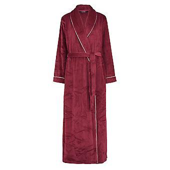 Slenderella GL8747 Women's Rasberry Red Robe Long Sleeve Dressing Gown