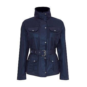 Ladies Champion Ellon Lined Waterproof Wax Fabric Belted Design Jacket Coat