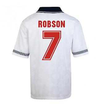Score Draw England World Cup 1990 Home Shirt (Robson 7)
