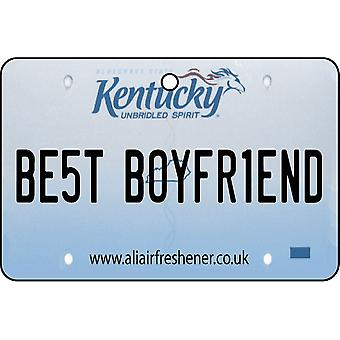 Kentucky - Best Boyfriend License Plate Car Air Freshener