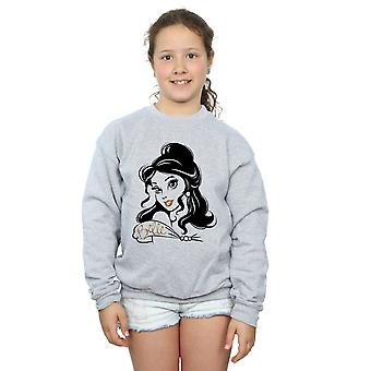 Disney Princess Girls Belle Sparkle Sweatshirt