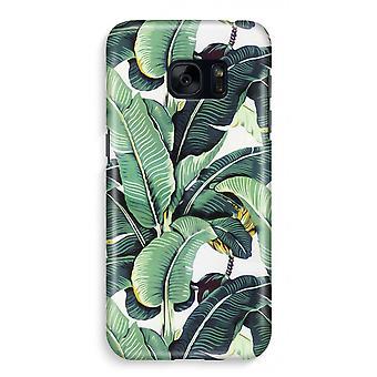 Samsung S7 Full Print Case - Banana leaves