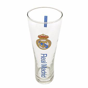 Real Madrid CF Official Wordmark Crest Peroni Pint Glass