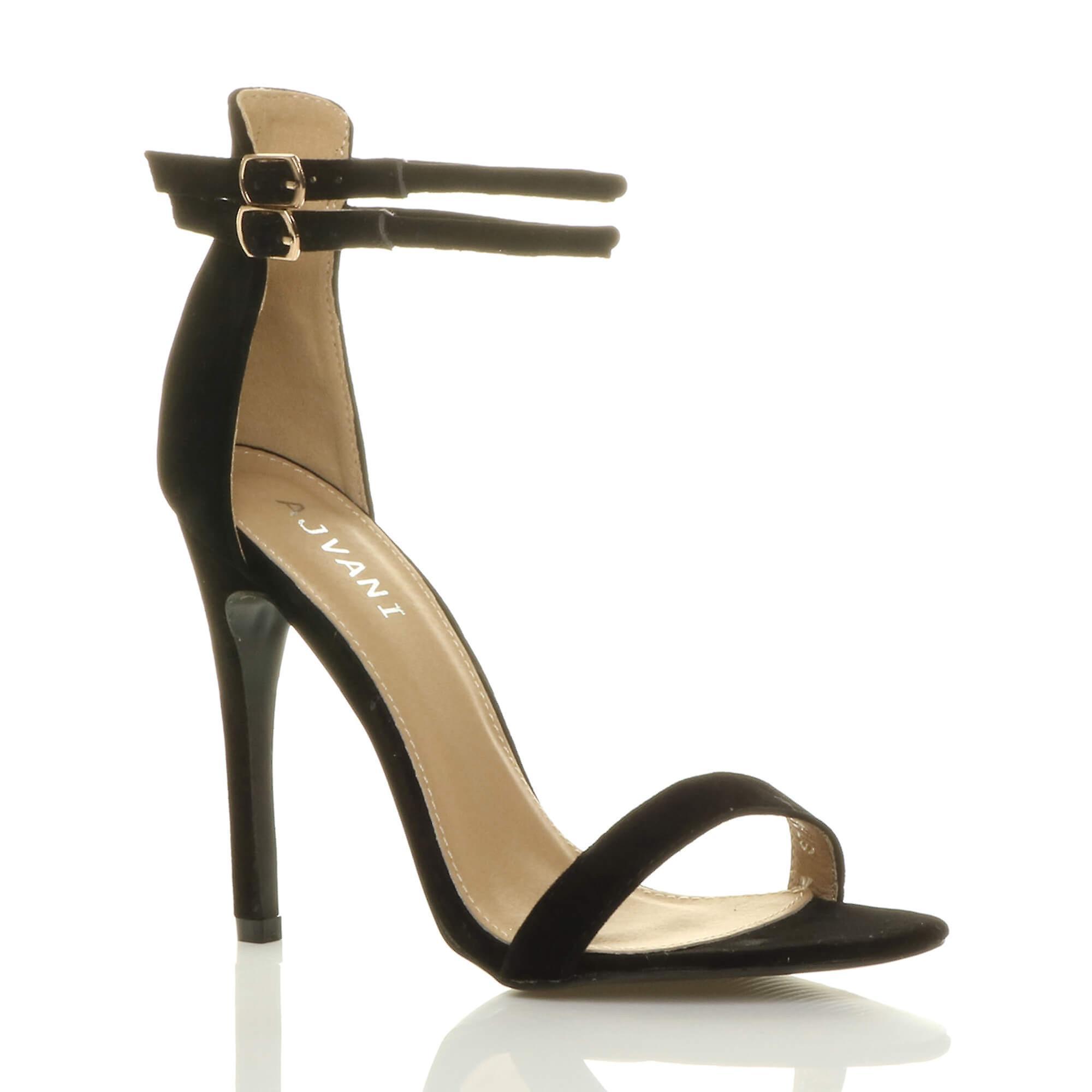 Ajvani damskie wysokie szpilki ledwo tam podwójny pasek klamra stroną sandały buty 9BJIZ